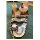 Rooster Canister Wall Hanger & More
