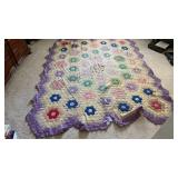 Quilt Blanket Needs Repairs 84x100