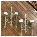 Wrought Iron Candle Sconces