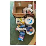 Lot of Paper Plates Napkins & More