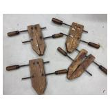 Lot of Wood Clamps