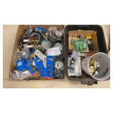 Box lot of Lamp Electrical Supplies & Misc