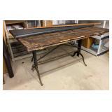 Cast iron Base Drafting Table Pat 1890