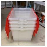 Lot of 4 Storage Totes