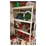 Shelf lot of Christmas