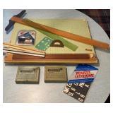 Drafting Board Brass Stencils & more