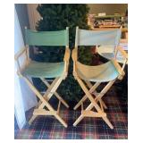 Pair of Canvas Directors Chairs