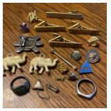 Tie clips Rings & Pins