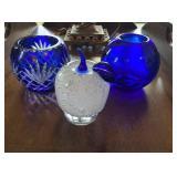Glass Bowls & Apple
