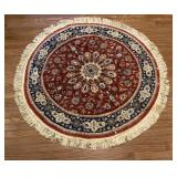 Round Wool Rug 54 inches