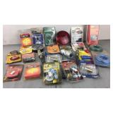Lot of automotive related items light bulbs,