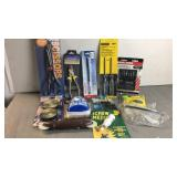 Lot of new items scissors, dust mask, hook and