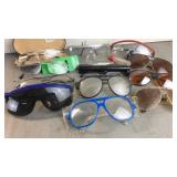 Eye glasses, safety glasses and sun glasses