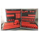 Lot of Plastic Peg Board Tool Organizers