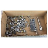 Box Lot of Misc 1/4 Drive Sockets
