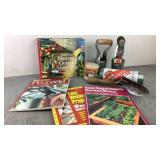 Lot of Gardening Books and Tools