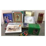 Lot of Holiday Cards, Mug and Candle