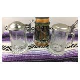 Beer Stein and 2 Glass Mugs