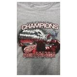 Detroit Red Wings 2008 Stanley Cup Grey T-shirt