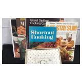 Lot of 6 Vintage Books 5 Cookbooks and 1 unused