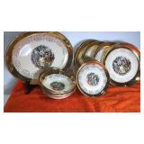 Vintage Crest-O-Gold 22k Dishes and Bowls 22pcs