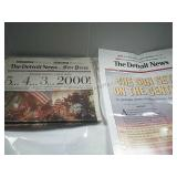 Detroit News and Free Press Jan 1, 2000 Paper and