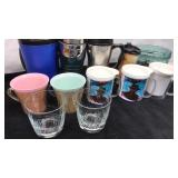Lot of Travel Mugs and Glassware