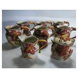Bico Autum Harvest, 6 Ceramic Mugs, Cream & Sugar