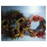 Pair of Autumn Wreaths