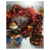 Autumn Wreath, Handmade Fall Light Up Tree and
