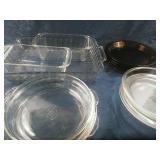 Assorted Pyrex Anchor Hocking, Glass Bake -