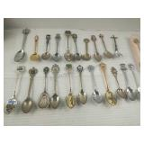 Large Assortment of Collectors Spoons