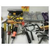 Assorted Tools- Drill Bits, Screwdrivers Inc