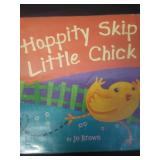 Hoppity skip little chick, by Jo Brown