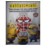 Minions the road to villain-con reusable sticker