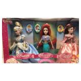 Disney Princess- Cinderella, The Little Mermaid,