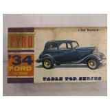Pyro tabletop series 1934 Ford Victoria model kit