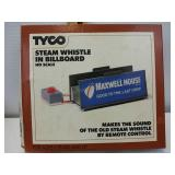 Tyco steam whistle in billboard HO scale