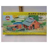 Vintage ahm HO scale Barn group