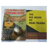 Vintage the book of real trains copyright 1949 by