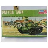 Vintage Mattel Monogram Patton Tank Kit