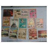Vintage Lionel electric trains magazines and