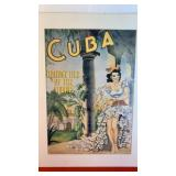 "Poster saying ""Cuba Holiday of the Tropics"""