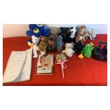 "12 small stuffed animals, ""Home Alone"" by Todd"