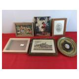 5 Wall Decorative Pictures 1 Picture Frame 9 1/4
