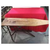 Antique Wooden Ironing Board 53 3/4 x 32 1/2