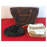 3 Purses Genuine Leather