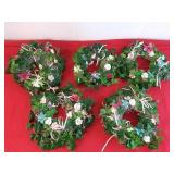 5 Floral Decorative Center Pieces 8 Inches