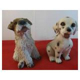 Two Ceramic Dogs Figures 7 1/2