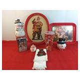 Coca-Cola Santa With Gifts Platter 15 × 12 1/4